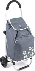 """Sivá kvetovaná termo taška na kolieskach """"Isolate"""""""