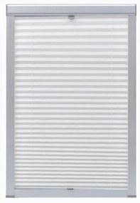 vidaXL Plisovaná roleta, biela P08/408