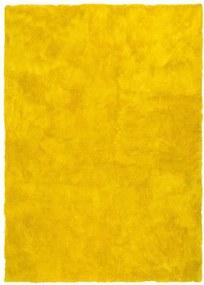 Žltý koberec Universal Nepal Liso Amarillo, 60 × 110 cm