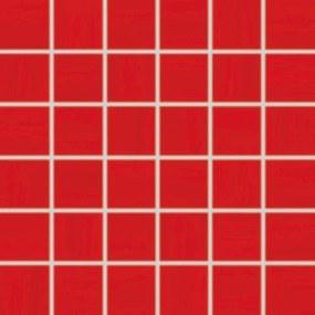 Mozaika Rako Air červená 30x30 cm lesk WDM06041.1
