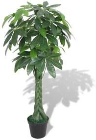 """vidaXL Umelá rastlina """"strom šťastia"""" s kvetináčom, 145 cm, zelená"""