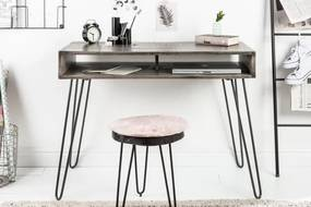 Dizajnový písací stôl Felix 100 cm, sivé mango