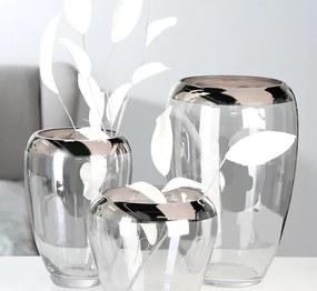 Bighome - Váza SMOT 30 cm - číra
