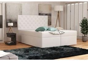 Elegantná čalúnená posteľ 120x200 ALLEFFRA - biela