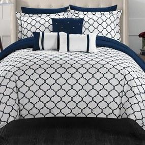 Bestent Bavlnené obliečky Blue/White Royal 140x200 cm