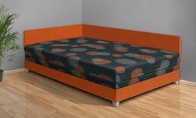 Nabytekmorava Čalúnená posteľ Aneta 110x200 cm farba čalounění: oranžová/53980-1007