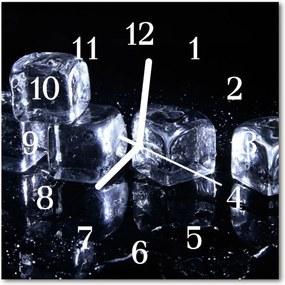 Sklenené hodiny štvorcové  kocky ľadu