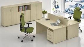 Zostava kancelárskeho nábytku Visio 11 javor