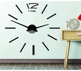 STYLESA hodiny na zeď nalepovacie P003 OMEGA I čierne