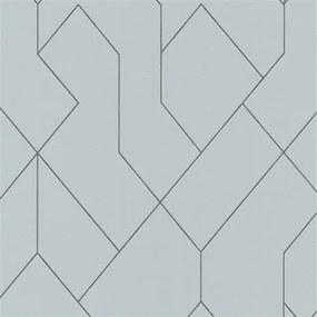 Vliesové tapety na stenu Graphics & Basics 5417-10, rozmer 10,05 m x 0,53 m, geometrický vzor čierny na sivom podklade, Erismann