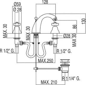 RETRO-TRES Umývadlová batérie (52910601)
