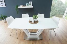 Rozkladací jedálenský stôl Joanna biely / orech 160-220 cm