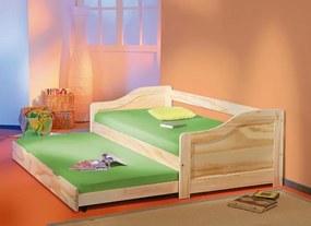 MAXMAX Detská posteľ Z MASÍVU s výsuvným lôžkom 200x90cm LARA