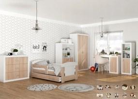 GL Jakub detská izba dub sonoma - motív Motív: 1 Korytnačka, Variant veľkosť postele: 160x80 (+30 Eur)
