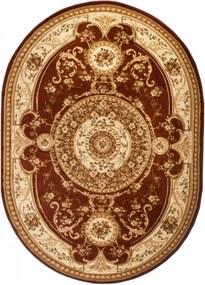 Kusový koberec klasický vzor 3 hnedý ovál ., Velikosti 60x100cm