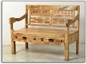 SIT MÖBEL Lavica RUSTIC 120 × 60 × 95 cm