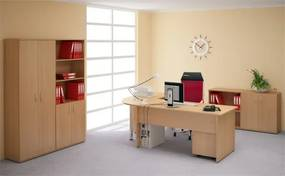 Kancelársky nábytok zostava Impress 1 PLUS tmavý orech