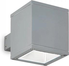 Ideal Lux 118666 vonkajšie nástenné svietidlo SNIF Square Grigio 1x40W | G9 | IP44