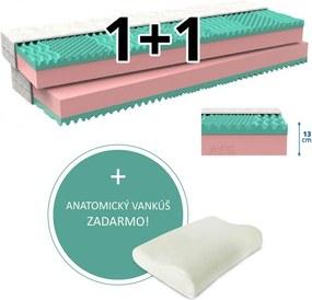 MPO Partnerský matrac 1 + 1 KLAUDIE 2 ks 90 x 200 cm Poťah matraca: Zdravotné poťah - umývateľný