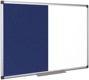 Popisovacia magnetická tabuľa a textilná nástenka, 1200x900 mm
