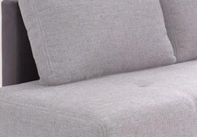 Rohová sedacia súprava Beate OT-2F, svetlo šedá/šedá látka