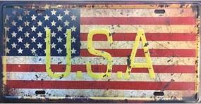 Ceduľa značka vlajka USA