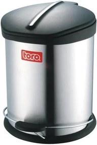 TORO Nerezový nášľapný kôš na odpadky TORO 12l