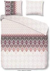 Obliečky na jednolôžko z bavlny Good Morning Abigale Bordeaux, 140 × 200 cm