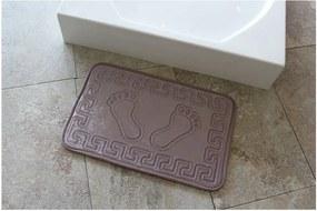 Fialová kúpeľňová podložka Ayakizi, 60 x 40 cm