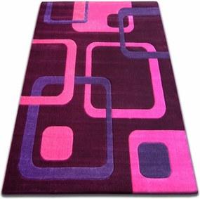 3kraft Kusový koberec FOCUS - F240 fialový čtverce