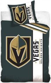 Hokejové posteľné obliečky NHL Vegas Golden Knights - séria Belt - 100% bavlna - 70 x 90 cm + 140 x 200 cm