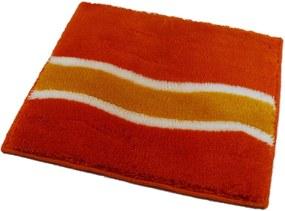 ROUTNER Kúpeľňová predložka LAVELLO Oranžová 10405 - Oranžová / 50 x 50 cm 10405