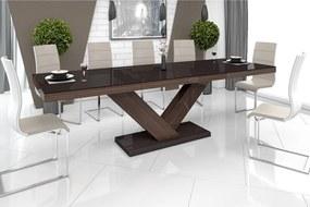 Luxusný rozkladací jedálenský stôl VICTORIA dub faro hneda DOPRAVA ZADARMO