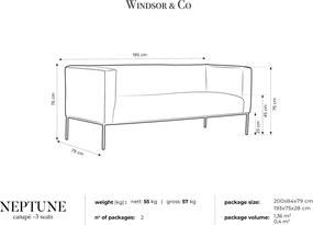 WINDSOR & CO Trojmiestna pohovka Neptune