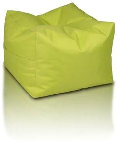 INTERMEDIC Sedací vak Taburetka CUBO, Polyester - NC01 - Zelená svetlá olivová (Polyester)