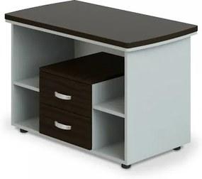 Prístavný stôl Manager LUX, pojazdný, 106 x 60 cm wenge