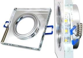 BRG Podhľadové bodové svietidlo nevýklopné - štvorec zrkadlo + LED pásik 3W neutrálna biela