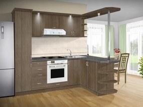 Nabytekmorava Kuchyna s ostrovčekom Bára C farba kuchyne: čerešňa taliánská, pracovná doska: s pracovnou doskou