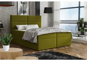 Elegantná posteľ 120x200 ZINA - zelená