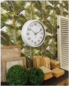 Biele nástenné hodiny Orchidea Milano Living, ø 38 cm
