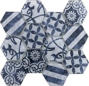 Sklenená mozaika Premium Mosaic azul 26x30 cm mat PATCHWORK73AZ