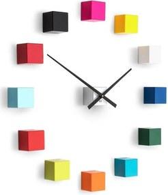 Designové nástěnné nalepovací hodiny Future Time FT3000MC Cubic multicolor