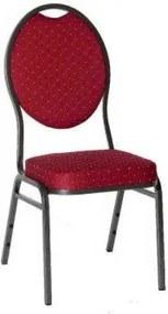Chairy MONZA 2064 Kvalitní kovová židle - červená