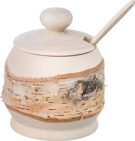 ČistéDrevo Drevená cukornička s lyžičkou - breza