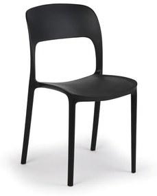 Jedálenská stolička REFRESCO, čierna