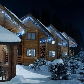 Blumfeldt Icicle-160-WW LED vianočné osvetlenie, cencúle, 8m, 160 LED svetielok, studená biela farba