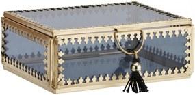 MADAM STOLTZ Sklenená krabička Orient Gold/black - väčšia