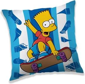 JERRY FABRICS Vankúšik Bart Simpson skater Polyester 40/40 cm