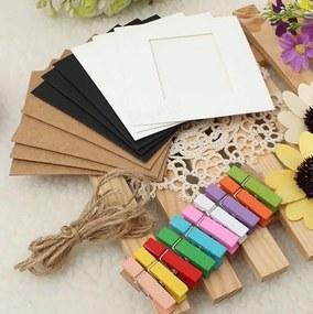 B2B Závesné papierové fotorámčeky, biele