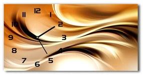 Sklenené hodiny na stenu Abstraktné vlny pl_zsp_60x30_f_90602431